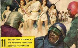 A pulp science-fiction cover from 1957. Photo courtesy of Wikimedia Commons.